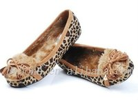 2013 new leopard indoor lady warm slippers