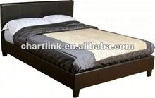 2014 BEST SELLING STYLE! silver pu leather bed