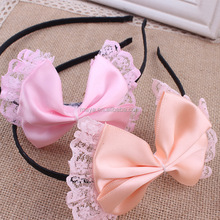 2016 Hot-sales Children's lovely new head band Bowknot is bud silk hair accessories
