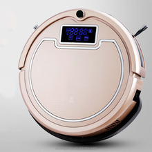oem/hepa rechargeable smart robot vacuum cleaner with washer function