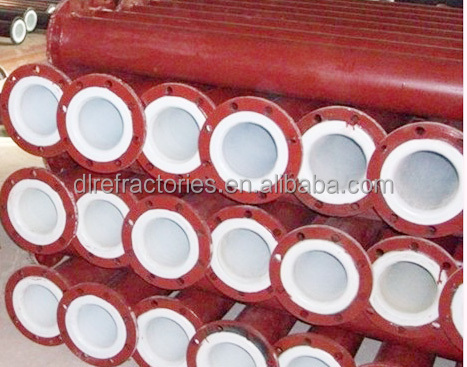 SHS ceramic composite pipe with good abrasion resistance