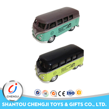 Newest 1:32 scale colorful plastic diecast model buses with music