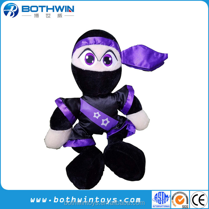 "13"" Plush Ninja Warrior doll plush animal sex toys"