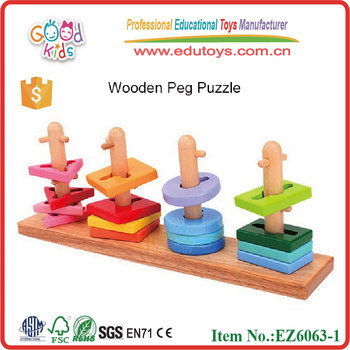 wholesale customize wooden 3d peg puzzle,jiawar puzzle ,wooden puzzle EZ6063-1