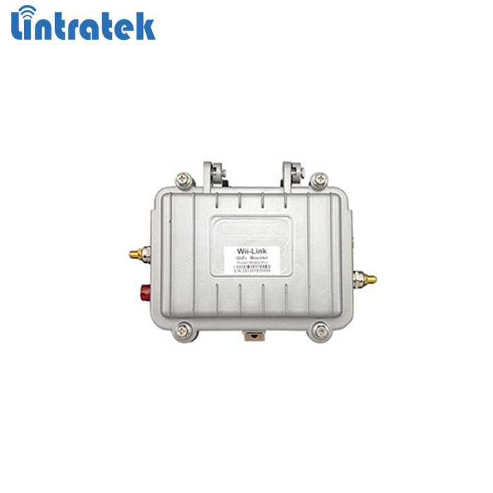 Outdoor waterproof 2.4GHz 4w wifi booster Lintratek brand wifi repeater to enhance wifi signal