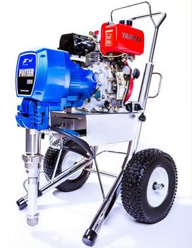 putty sprayer with strong diesel motor airless  paint sprayer
