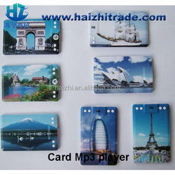cheapest promotion gift Credit Card MP3 Player with customerized logo & design printing business card mp3 player