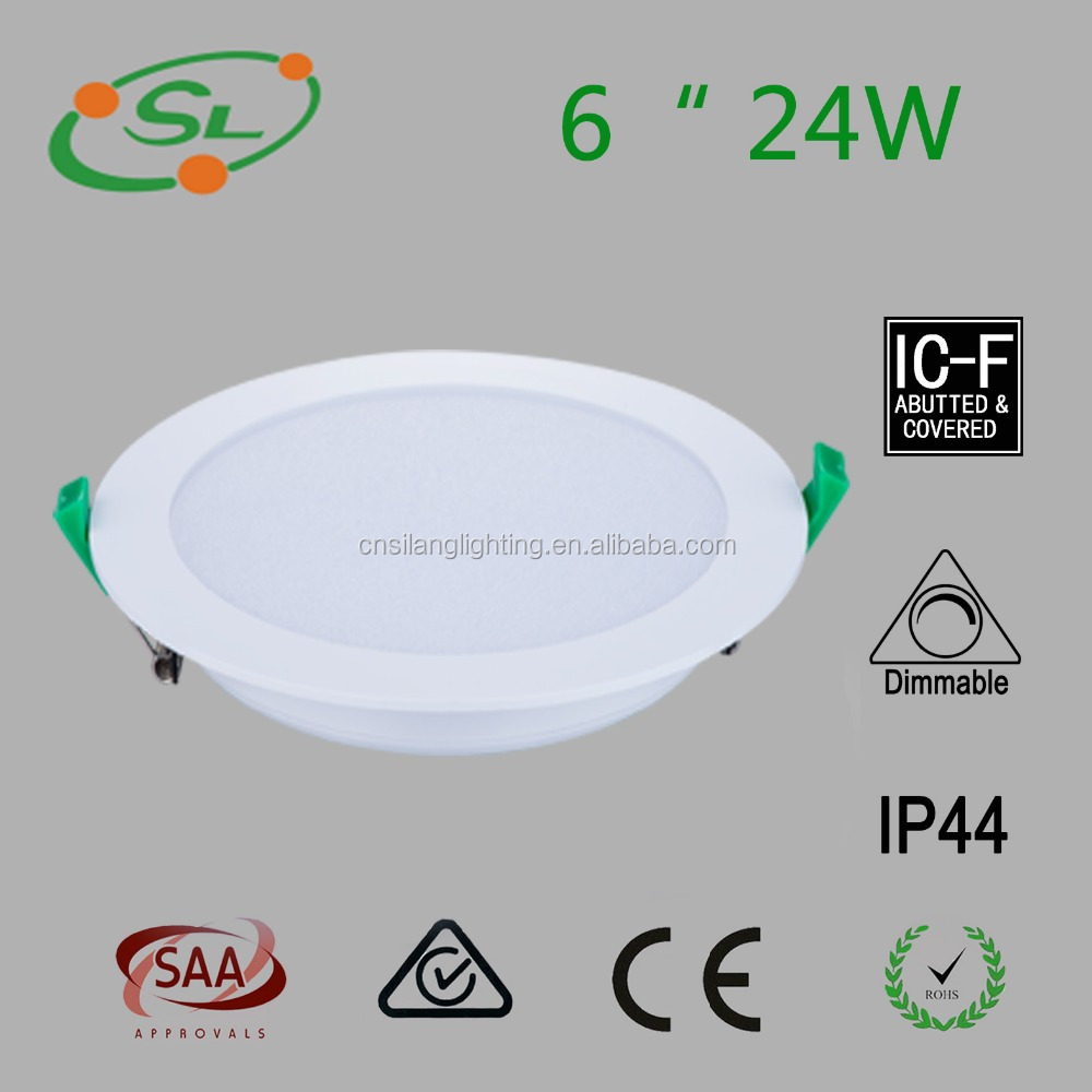 24w dimmable thin led ceiling downlight for housing