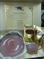 2014 New 100% Indonesian Pure Kopi Luwak Coffee Beans Cup Set