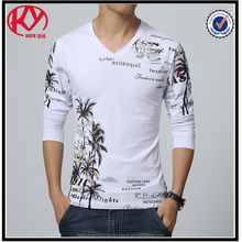 Mens Slim Fit Long Sleeve V Neck T Shirt From Factory
