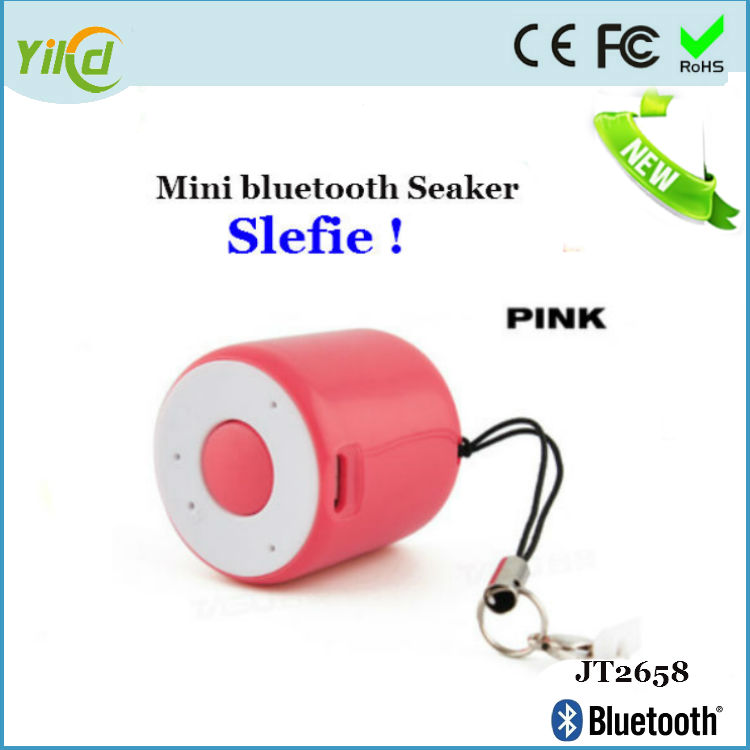 2016 New smallest mobile bluetooth speaker with renote shutter