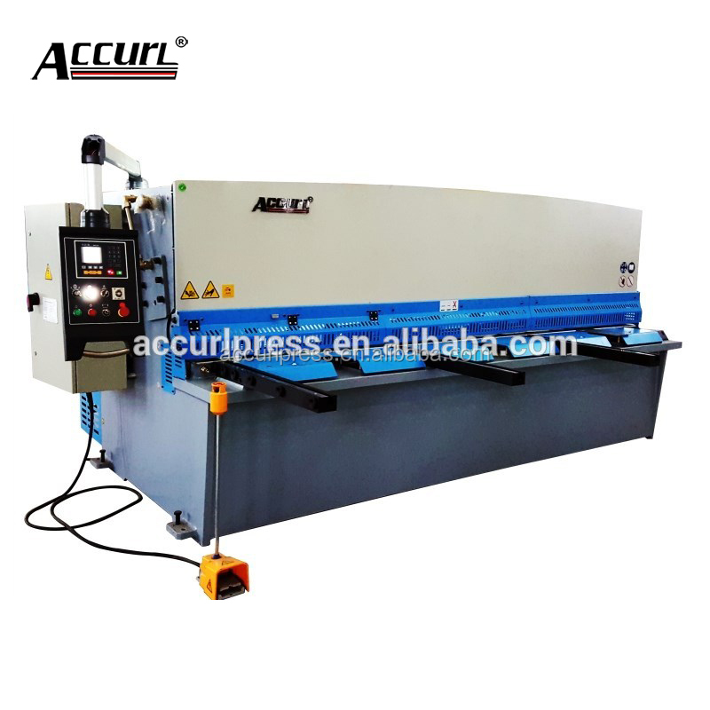 Powered back gauge X-axis stainless steel cutting machine tool,hydraulic sheet metal shearing machine