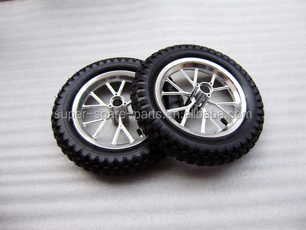110/50-6.5 and 90/65-6.5 wheel hub and vacuum tyre for 2-stroke 47cc and 49cc Pocket Bike