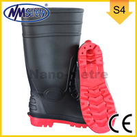 NMSAFETY New style high cut pvc boots waterpoof rain boots