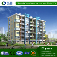 High rise modular steel structure prefabricated hotel building for sale