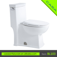 European style restaurant one piece siphonic ceramic CUPC cheap toilets