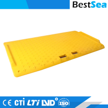 Portable wheelchair ramp yellow, non-slip design motorbike ramp