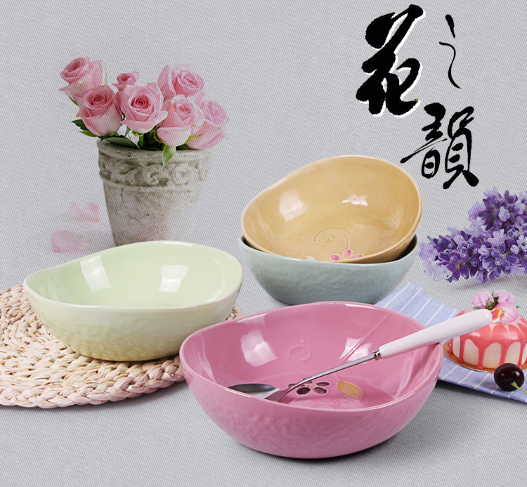 ceramic salad bowls set/decorated ceramic porcelain fish bowl/Manufacturer wholesale new design ceremic bowl for salad