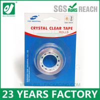 Crystal clear stationery tape for office and school
