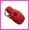 For Benz silicone remote key shell, custom remote car key cover, colorful car key case for various different brand
