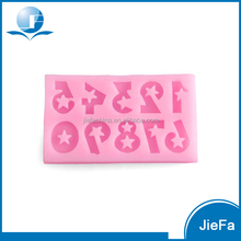 Fashion Silicone Star and Number Cake Mould