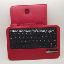 Removable wireless Bluetooth 3.0 ABS Keyboard +Case Cover For Samsung Galaxy Note 8.0 N5100 RED
