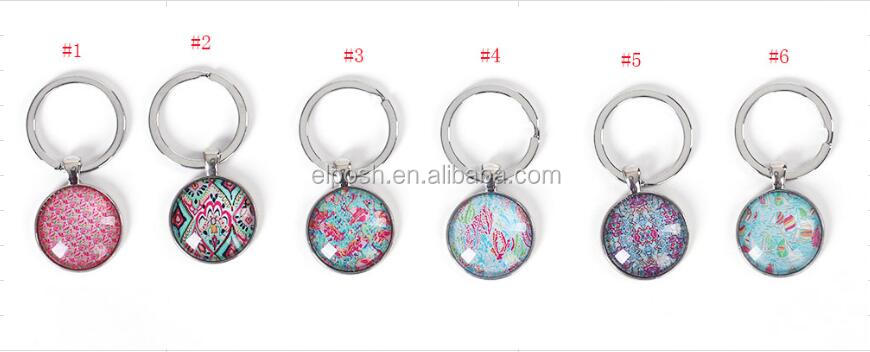 In Stock Personalized Lilly Pulitzer Inspired Keychain