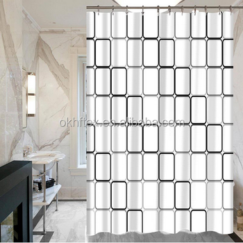 classic water resistant and mold resistant fabric 84 inch shower curtain