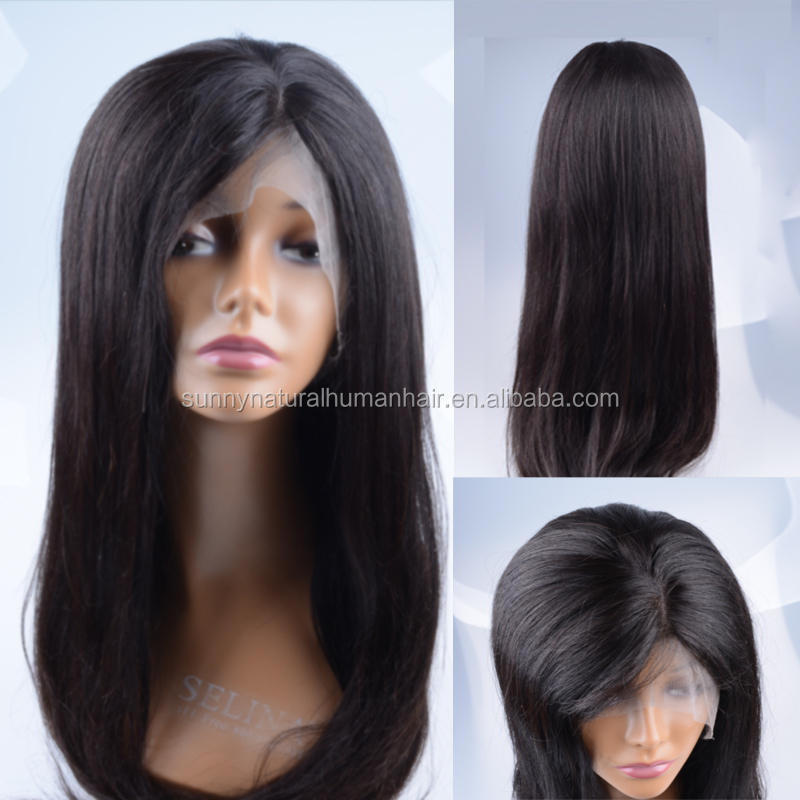 factory price human hair lace front wigs silky straight natural hairline full lace wigs Brazilian virgin hair none lace wig