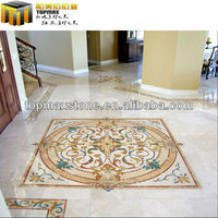 Design And Production Water Jet Gold Marble Flooring - Buy Water ...