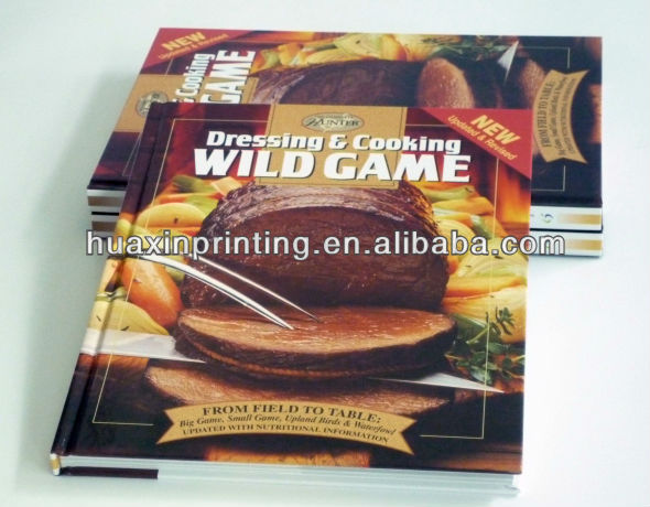 New design hardcover cooking books printing