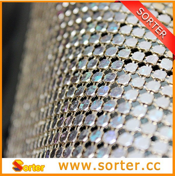 Cheap Sequin Fabric Table Cloth Expanded Metal Mesh Overlays