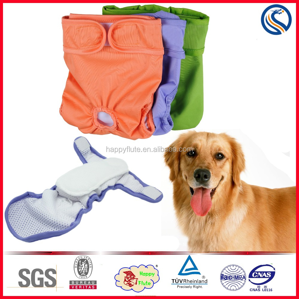 happyflute new design male female washable dog diaper pet products