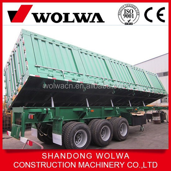 side dump semi trailer with 50 capacity and load about 80t