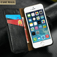 Best Quality Cow Leather Stand Case for iPhone 5, for iPhone 5 5s Mobile Case, for iPhone 5 Wholesale Leather Case