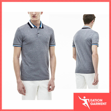 Top Quality men's Gray Slim Fit cotton Embroidered wholesale Polo Shirts