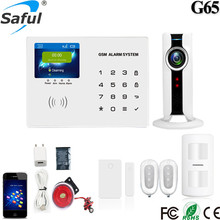 IOS/android APP control 2.8 inch TFT intelligent house automation system wireless gsm security home burglar alarm system