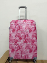 Arc de Triomphe/Eiffel/Colosseum/Colosseum Printings Pink Cheap Trolley Luggage Set Sale PC+ABS