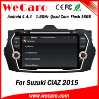 Wecaro WC-SC8075 Android 4.4.4 car dvd player quad core touch screen car radio gps for suzuki swift WIFI 3G 1.6 ghz cpu 2015
