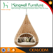 Hanging outdoor lounger over-sized bird's nest rattan lounge bed
