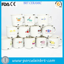 lovely birthday gift 12pc/set mini enamel ceramic zodiac mugs