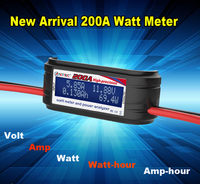 100% Good Quality 200A DC power energy watt meter with data storage