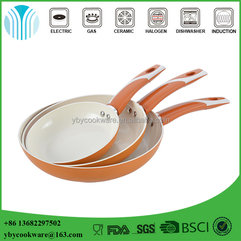 Good quality aluminum alloy non stick ceramic coating frying pans
