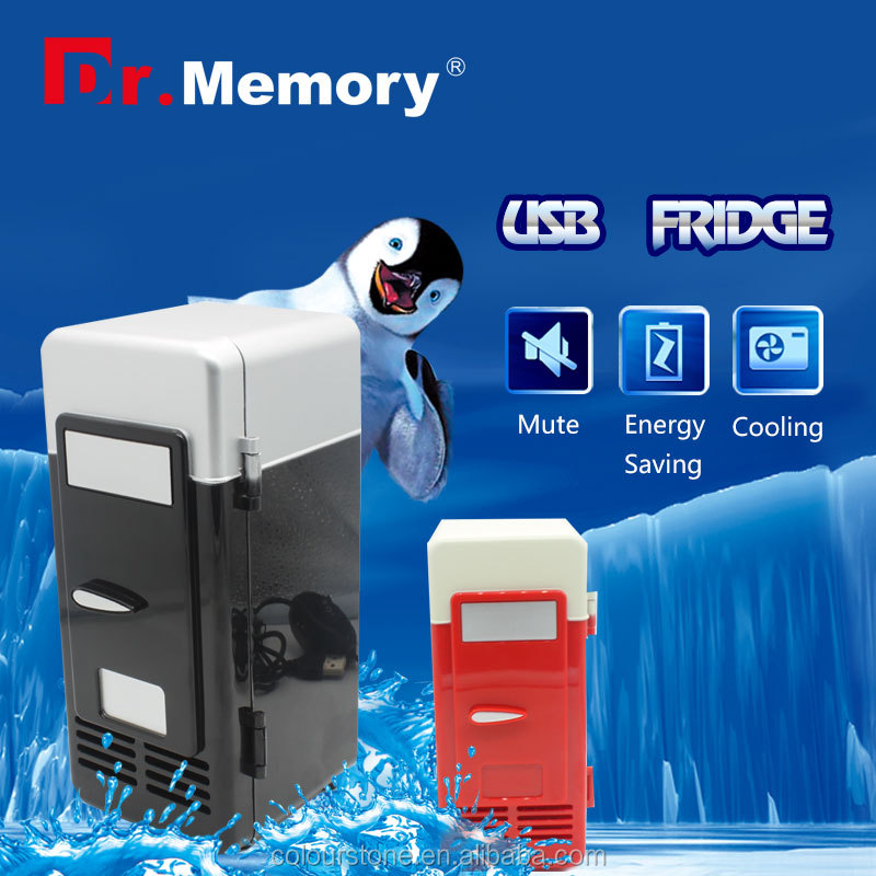 Dr.memory new products 2016 Popular Mini USB Fridge Cooler Beverage Drink Cans Cooler/Refrigerator pendrive usb gedget