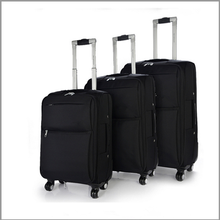 hot new 3pcs nylon material ultra light soft trolley trtavel luggage