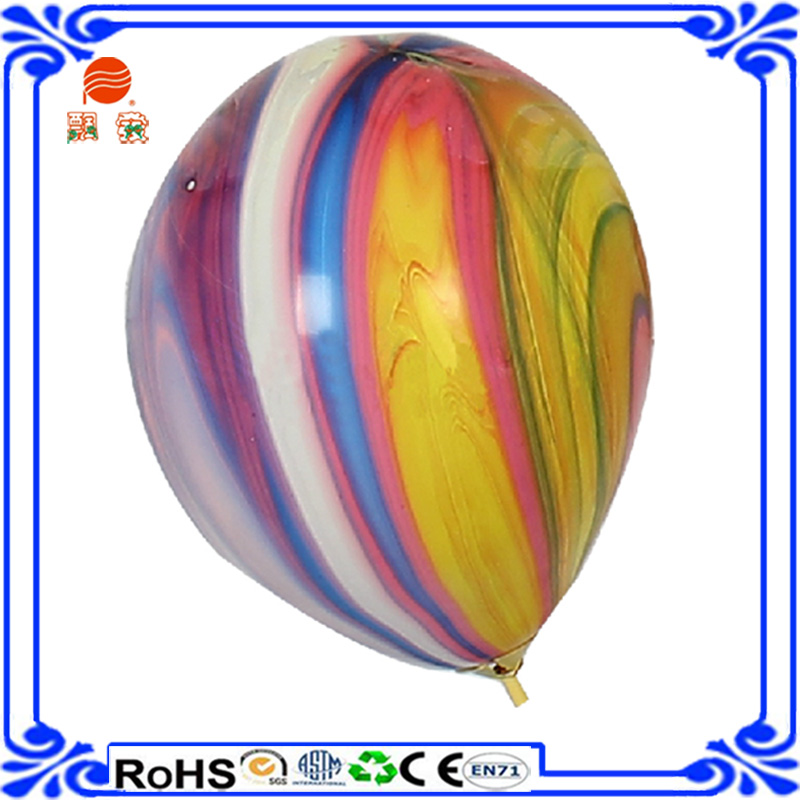 China factory whole sale round latex decoration coloful rainbow balloon