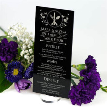 DDI-C064 Trade Assurance Handmade Menu Cards