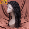 Wholesale cheap natural hairline deep curly indian human hair full lace wig for women