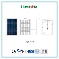 high efficiency 100w poly solar panel for caravan parts for solar power system with TUV/PID/CEC/CQC/IEC/CE