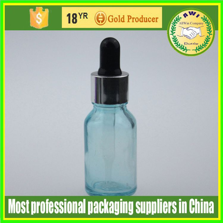shrink wrap for 15ml glass dropper bottles with childproof dropper colorful nipple